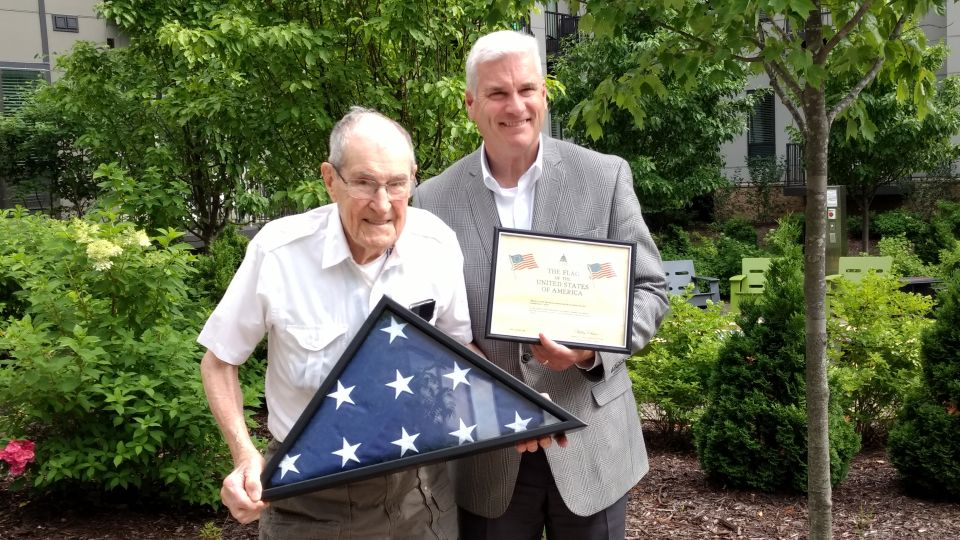 WWII Veteran and Ramsey Resident Recognized by Representative Emmer